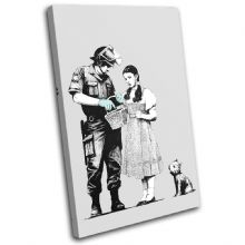 Stop Search Banksy Painting - 13-1598(00B)-SG32-PO